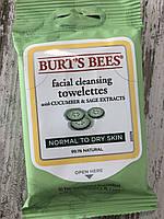 Очищающие салфетки для лица BURT'S BEES Facial Cleansing Towelettes
