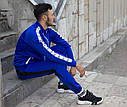Мастерка олимпийка мужская синяя бренд ТУР модель Смоук (Smoke) размер XS, S, M, L, XL, фото 2