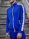 Мастерка олимпийка мужская синяя бренд ТУР модель Смоук (Smoke) размер XS, S, M, L, XL, фото 3