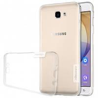 Накладка для Samsung Galaxy G570 J5 Prime силікон Nillkin Nature TPU Прозорий