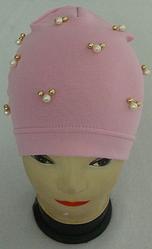 Модна легка осіння шапка на дівчинку Намистинки 3-8 років, різні кольори