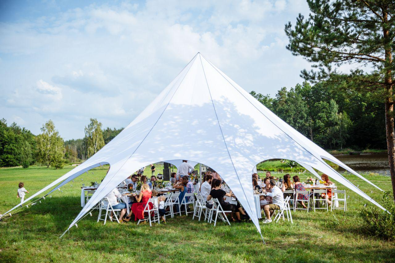Аренда шатра Киев на 50 человек Одномачтовый шатер-палатка Звезда боль