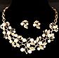 Ювелирный набор украшений ожерелье и серьги код 126, фото 3