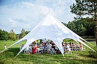 Шатер Звезда 14 м, - легкий большой шатер на 70 человек