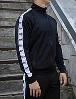 Мастерка олимпийка мужская черная бренд ТУР модель Смоук (Smoke) размер XS, S, M, L, XL