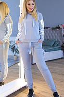 """Стильный женский спортивный костюм """"Mystery"""": худи и штаны на манжетах, большие размеры, разные цвета"""