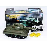 Боевой танк на радиоуправлении, аккумуляторы,стреляет пульками, в коробке