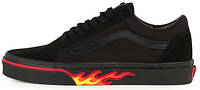 Кеды Vans Old Skool Flame Wall Black