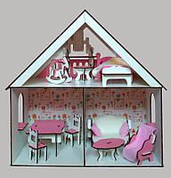 2104 Домик для LOL LITTLE FUN + обои + мебель + текстиль