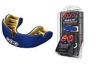 Капа OPRO Power-Fit Single Series Dark Blue/Gold (art.002268005), фото 1