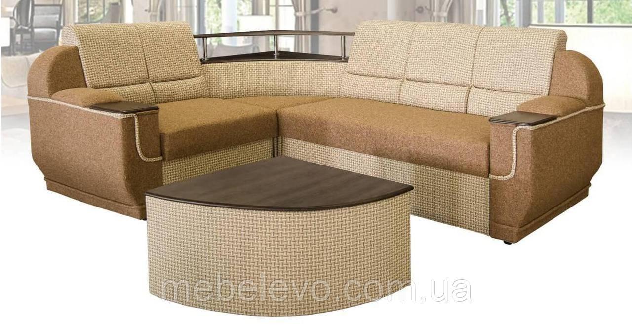 Угловой диван  Меркурий 1000х2550х1900мм    Мебель-Сервис