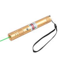 Фонарь-лазер зеленый LM-206, встроенный аккумулятор, ЗУ USB, комплект