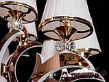 Большая классическая люстра с подсветкой рожков 8329/8+4G, фото 6