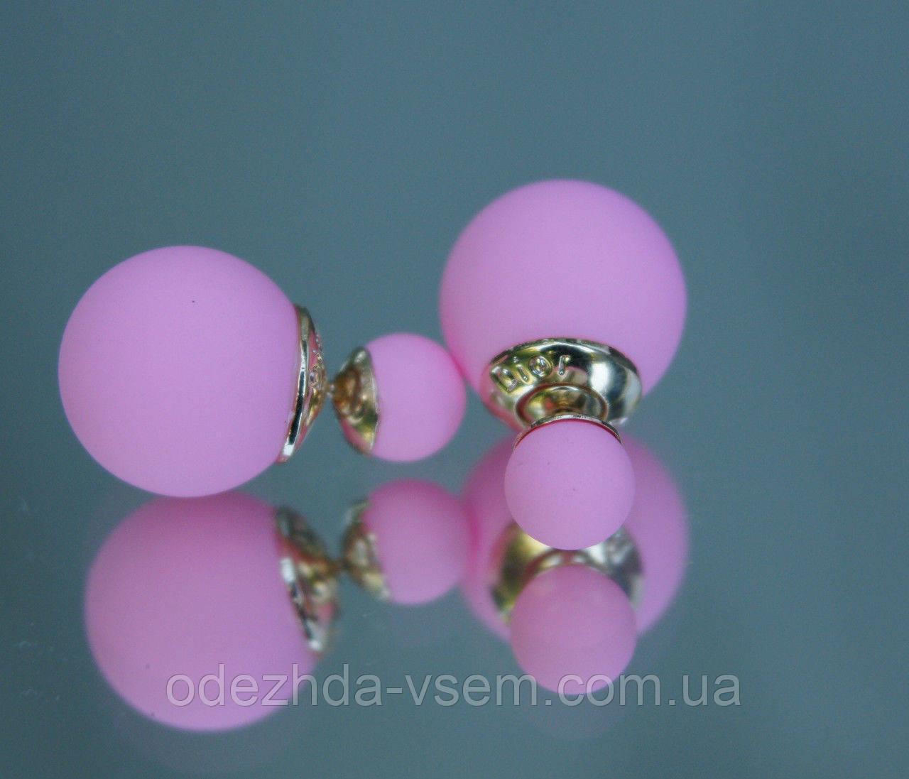 Копия Серьги - гвоздики пусеты розового пудрового цвета