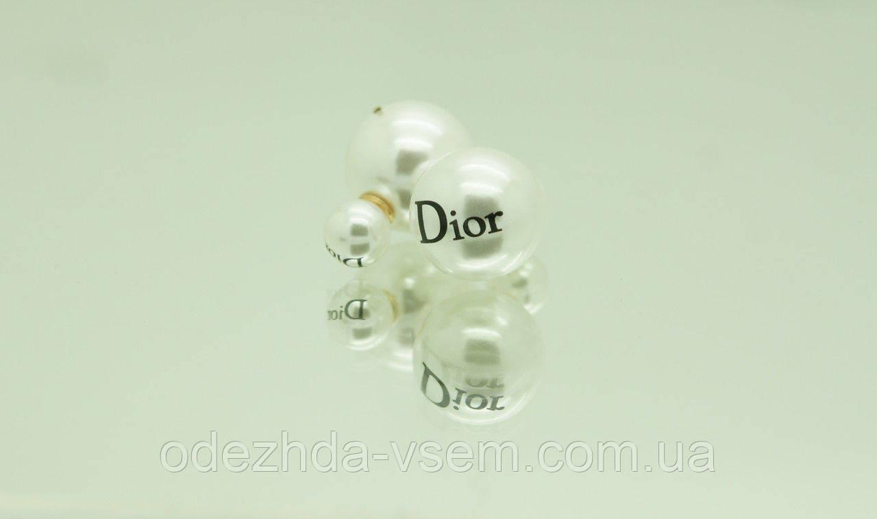 Сережки с принтом - пусеты в стиле Dior