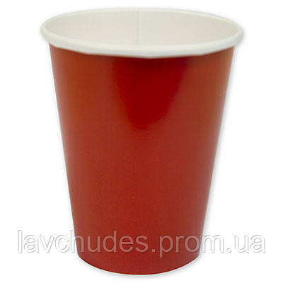 Стаканы, праздничные - 10 шт., одноразовые красные стаканы. Одноразовая посуда.
