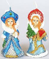 Декоративная новогодняя свеча Снегурочка 8.3см, 2 вида BonaDi NY18-N27
