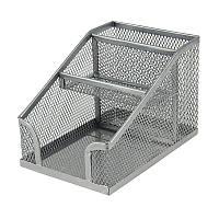 Подставка-органайзер 100x143x100мм металлическая серебро AXENT