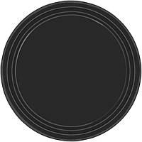 Праздничные, черные тарелки 10 шт. Одноразовая, праздничная посуда.