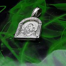 Срібна ікона з образом Божої Матері
