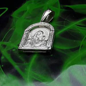 Серебряная иконка с образом Божьей Матери