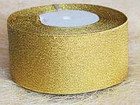 Лента парча 5 см золото