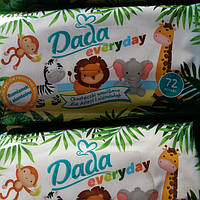 Детские влажные салфетки Dada naturela, 72 шт