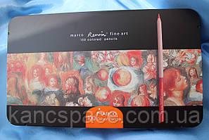 """Карандаши цветные """"MARCO"""" Renoir Fine Art в металлической коробке (100 цветов)"""