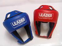 Шлем для таэквон-до ИТФ LEADER / Винил /  Leader, L, Синий