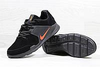 Кроссовки Nike Air Presto черные с оранжевым 3705