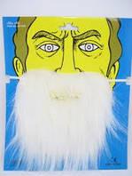 Борода искусственная на резинке, цвет белый, борода Пирата