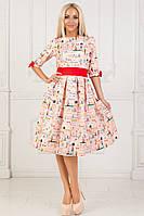 Платье с принтом / хлопок / Украина 40-1319, фото 1