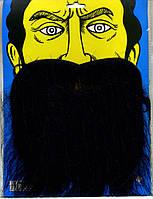 Борода искусственная на резинке, цвет черный, борода Пирата