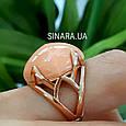 Брендовое серебряное кольцо с позолотой и кораллом, фото 8