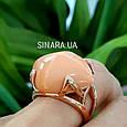 Брендовое серебряное кольцо с позолотой и кораллом, фото 6