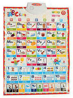 Говорящий обучающий плакат Английский алфавит Limo Toy 7031