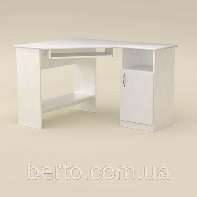 Компьютерный стол угловой СУ-13 МДФ Альба (белый)