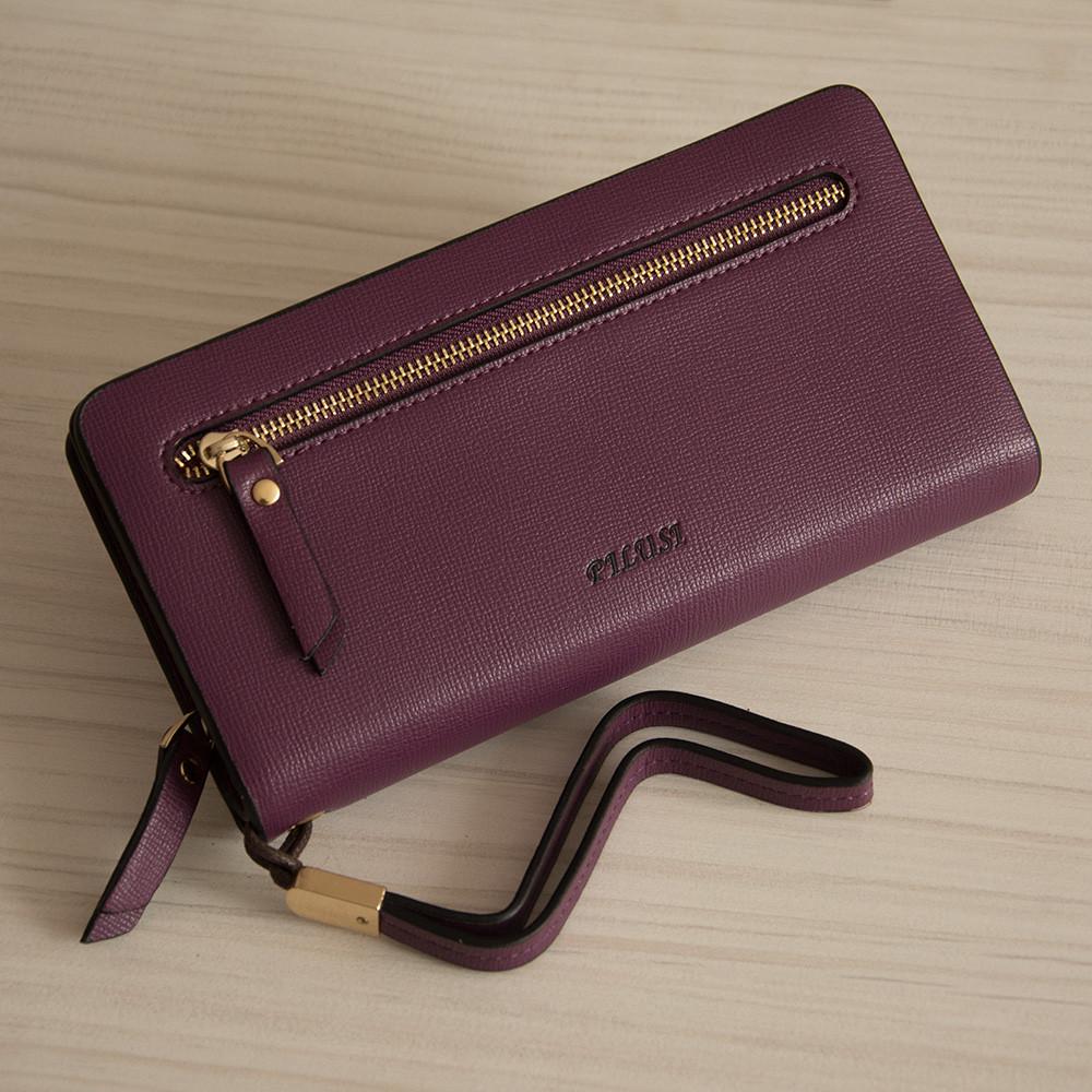 Кошелек - клатч женский Pilusi с ремешком, фиолетовый (PL030)