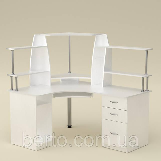 Компьютерный стол угловой СУ-11 белый