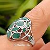 Серебряное кольцо с натуральным изумрудом , фото 8