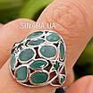 Серебряное кольцо с натуральным изумрудом , фото 7