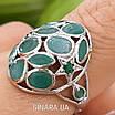 Серебряное кольцо с натуральным изумрудом , фото 6