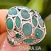 Серебряное кольцо с натуральным изумрудом , фото 3