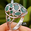 Серебряное кольцо с натуральным изумрудом , фото 2