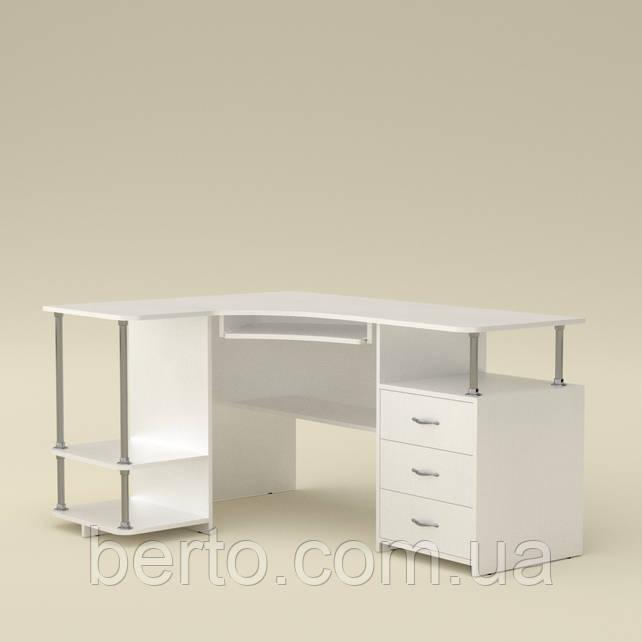Компьютерный стол угловой СУ-4 белый