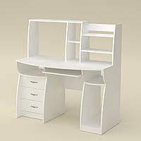 Компьютерный стол Комфорт-3 белый