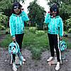 Модный трикотажный спортивный костюм с лампасами для девочки (122-152р)