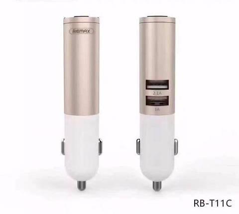 Гарнитура-зарядка Remax bluetooth RB-T11С gold, фото 2