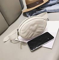 Поясная сумка женская белая  сумки на пояс белый