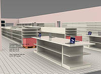 Дизайн проект магазина. Разработка концепции магазина. Открываем магазин. Разработка концепта супермаркета. подбор стеллажей для магазина, фото 1